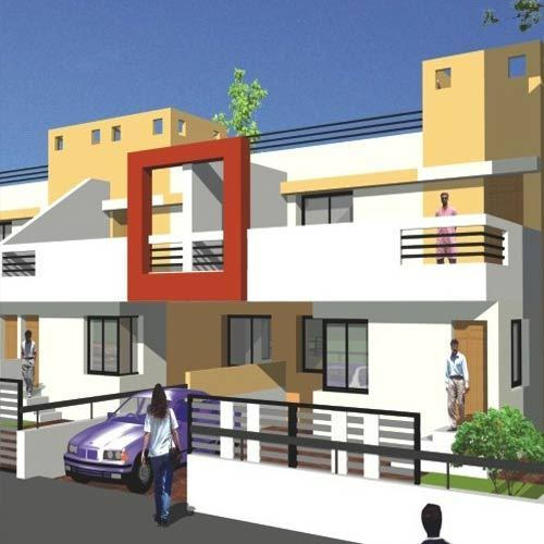 3d Model House Building Residential: 3D Model For Row House Service