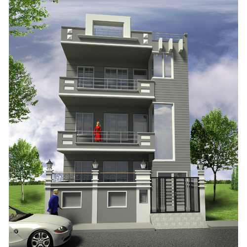 Top 50 Modern House Designs Ever Built: Technical Elevation Design In Gurgaon By Space Age
