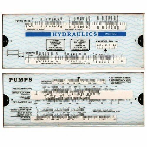engineering slides chart hydraulic metric pumps slide chart
